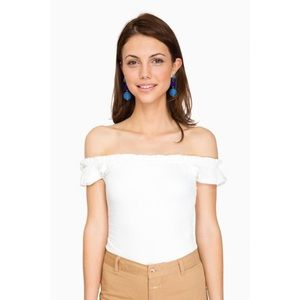 Privacy Please Spina Bodysuit Ivory Size S NWT